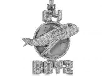 14k White Gold Custom Diamond G4 BOYZ Pendant - Shyne Jewelers